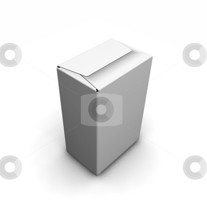 Blank white box stock photo, 3D render of a blank white box by Kirsty Pargeter