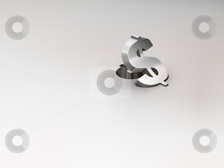 Dollar Sign lifting up stock photo,  by Kirsty Pargeter