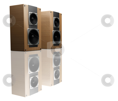 Speakers stock photo, 3D render of speakers by Kirsty Pargeter