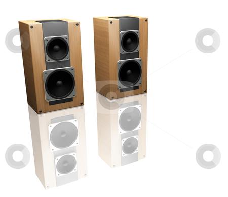 Speakers stock photo, 3D render of speakers by Kirsty Pargeter