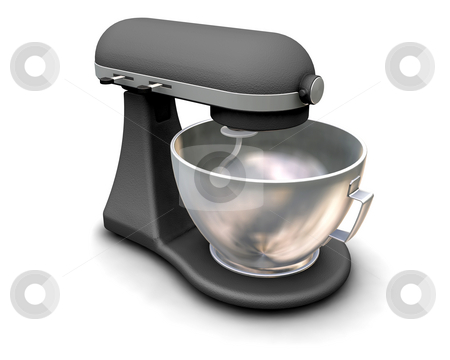 Mixer stock photo, 3D render of a kitchen mixer by Kirsty Pargeter