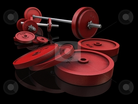 Dumbbells on Black stock photo,  by Kirsty Pargeter