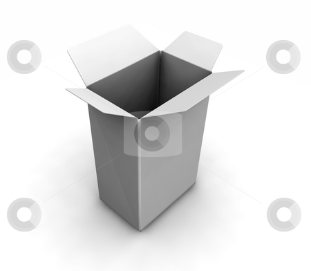 Open white box stock photo, 3D render of an open white box by Kirsty Pargeter