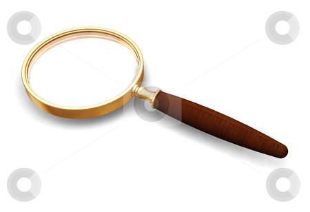 Magnifying glass stock photo, 3D render of a magnifying glass by Kirsty Pargeter