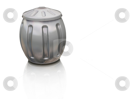 Full trash can stock photo, 3D render of a full trash can by Kirsty Pargeter