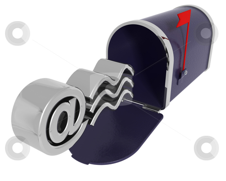Mail box stock photo, 3D render of a mail box by Kirsty Pargeter