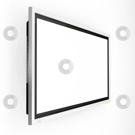 Plasma screen tv stock photo, 3D render of a plasma screen television by Kirsty Pargeter