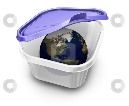 World in a box stock photo, 3D render of the world in a box by Kirsty Pargeter