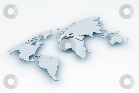 3D map stock photo, 3D map of the world by Kirsty Pargeter