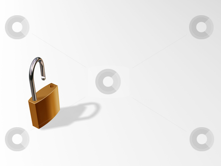 Lock on White Background stock photo,  by Kirsty Pargeter