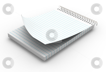 Notepad stock photo, 3D render of a notepad by Kirsty Pargeter