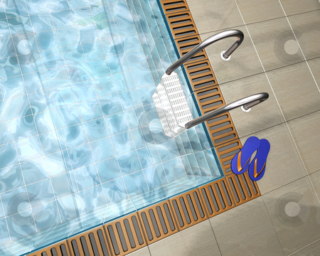 Swimming pool stock photo, 3D render of a swimming pool by Kirsty Pargeter