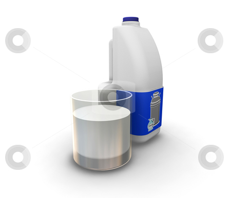 Milk stock photo, 3D render of milk by Kirsty Pargeter