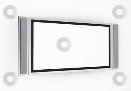 Plasma screen  stock photo, 3D render of a plasma screen television by Kirsty Pargeter
