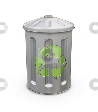 Recycling bin stock photo, 3D render of a recycling bin by Kirsty Pargeter
