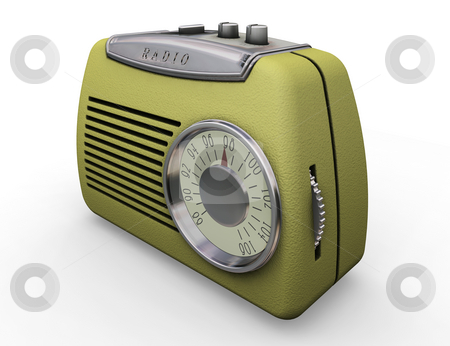 Retro radio stock photo, 3D render of a retro styled radio by Kirsty Pargeter