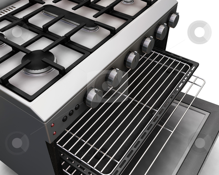 Modern oven stock photo, 3D render of a close up of a modern oven by Kirsty Pargeter