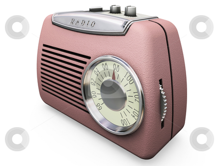 Retro radio stock photo, 3D render of a retro radio by Kirsty Pargeter