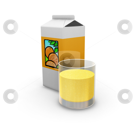 Orange juice stock photo, 3D render of orange juice by Kirsty Pargeter