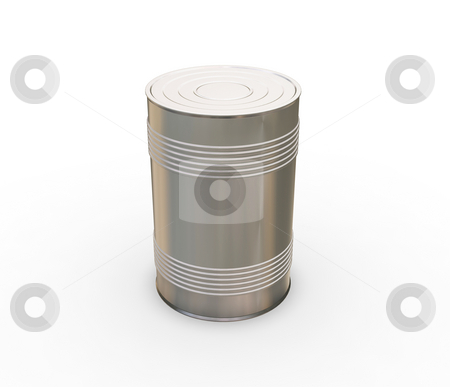 Tin can stock photo, 3D render of a tin can by Kirsty Pargeter