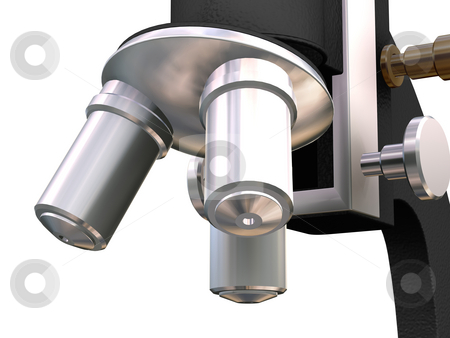Microscope stock photo, 3D render of a microscope close up by Kirsty Pargeter