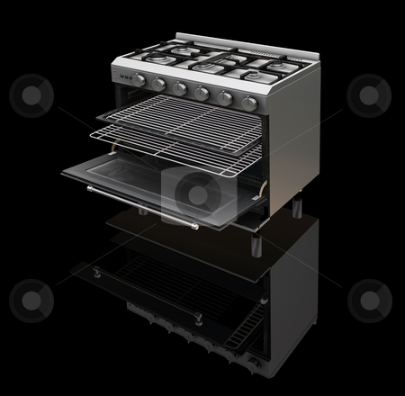 Modern oven stock photo, 3D render of a modern oven by Kirsty Pargeter