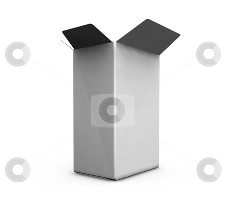 Open blank box stock photo, 3D render of an open blank box by Kirsty Pargeter