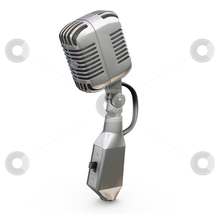 Retro microphone stock photo, 3D render of a retro microphone by Kirsty Pargeter