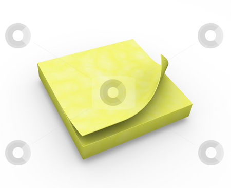 Post-it notes stock photo, 3D render of post-it notes by Kirsty Pargeter