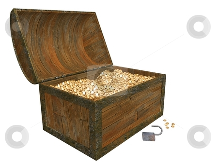 Treasure Chest stock photo,  by Kirsty Pargeter