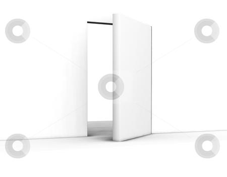 Open door stock photo, 3D render of an open door by Kirsty Pargeter