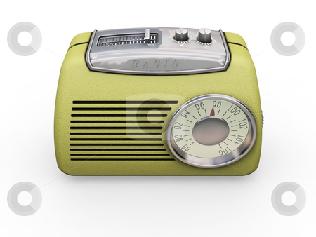 Retro radio stock photo, 3D render of retro radio by Kirsty Pargeter