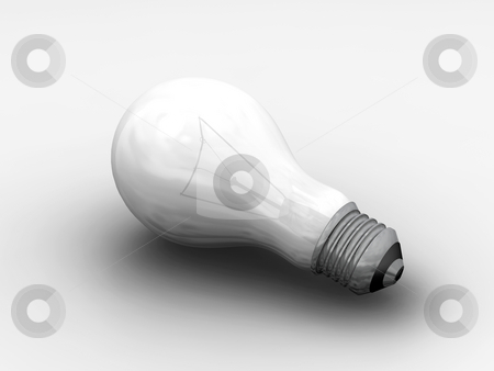 Light bulb stock photo, 3D render of a light bulb by Kirsty Pargeter