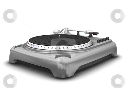 Turntable stock photo, 3D render of a turntable by Kirsty Pargeter