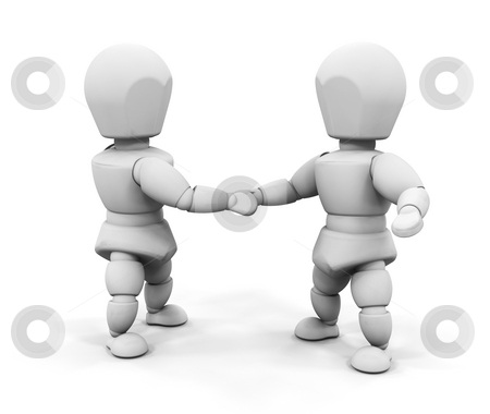 Handshake stock photo, 3D render of two people shaking hands by Kirsty Pargeter