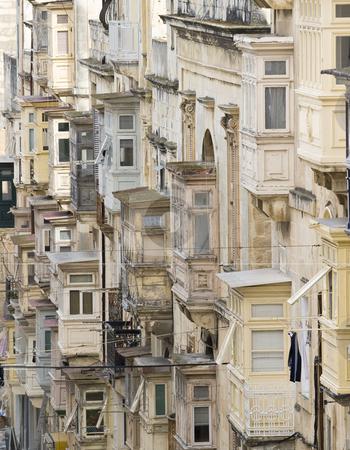 Valletta stock photo, The balconied houses of Valletta, UNESCO World Heritage Site, capital city of Malta, Europe by mdphot