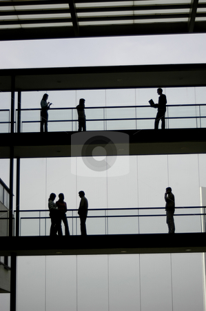 Working stock photo, Workers in the office building and the sky by Rui Vale de Sousa