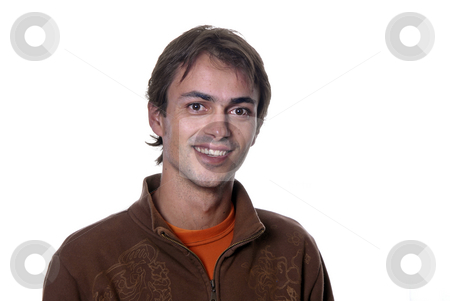 Casual stock photo, Casual young man portrait in white background by Rui Vale de Sousa