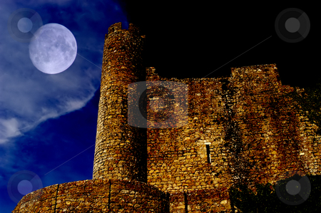 Castle stock photo, Obidos Castle detail in Perspective. Obidos, Portugal. by Rui Vale de Sousa