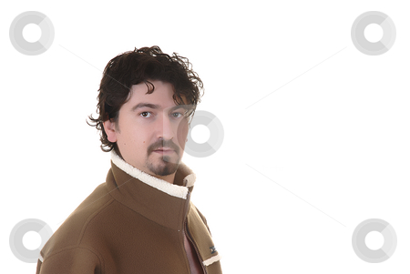 Man stock photo, Young casual man in a white background by Rui Vale de Sousa