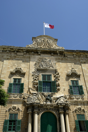 Building stock photo, Baroque Architecture on medieval building in the island of Malta by Rui Vale de Sousa