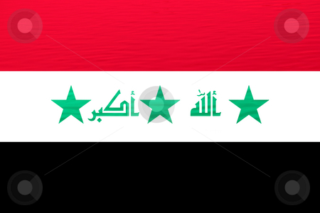 Iraq stock photo, Iraque flag illustration with textures, computer generated by Rui Vale de Sousa