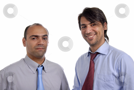 Fun stock photo, Two young business men portrait on white by Rui Vale de Sousa
