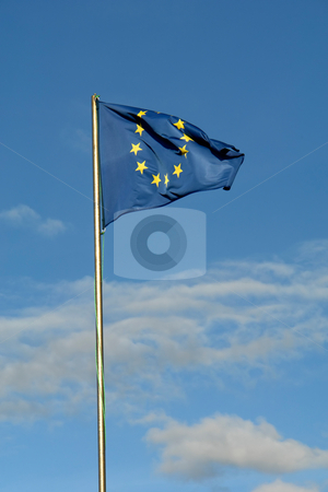 European stock photo, European flag detail with the sky as background by Rui Vale de Sousa