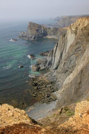 Cliff stock photo, Portuguese coast cliff by Rui Vale de Sousa