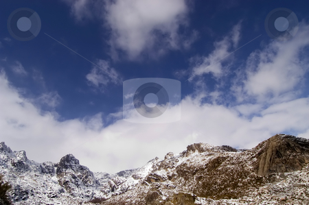 Mountains stock photo, Mountain snow in the Estrela peak in portugal by Rui Vale de Sousa