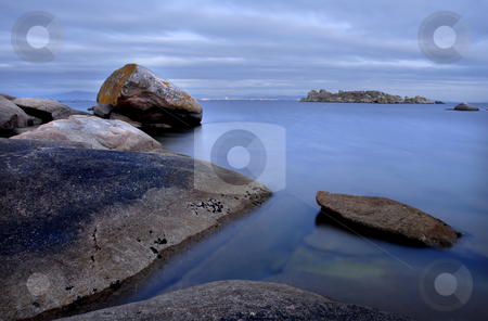 Calm stock photo, Slow shutterspeed picture at the coast of spain by Rui Vale de Sousa