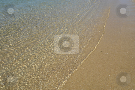 Water stock photo, Green wave in the sand at the beach by Rui Vale de Sousa