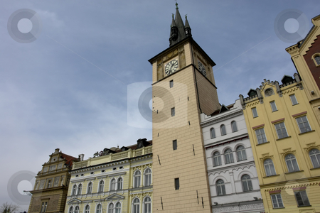 Clock tower stock photo, Prague buildings by Rui Vale de Sousa
