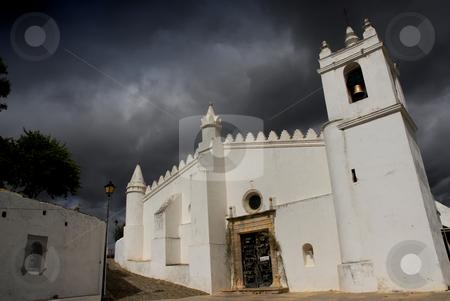 Church stock photo, Old white church in Metola Alentejo, south of portugal by Rui Vale de Sousa